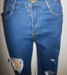 Jeans skinny ripped xs/