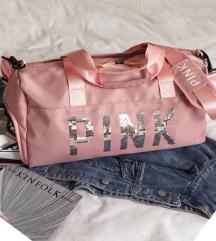 baby pink potovalka, športna torba
