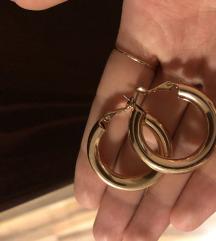 Zlati uhani hoops chunky