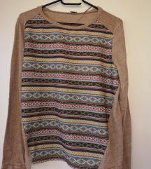 Tanjši pulover z vzorcem
