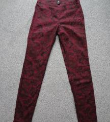 Bordo vzorčaste hlače, št. 36