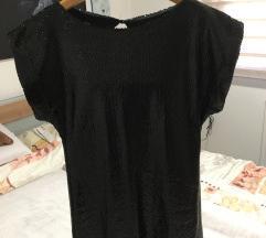 Črna oblekica cela iz črnih bleščic št. 42