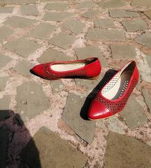 ALPINA št. 37 pravo usnje rdeči čevlji