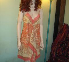 NEW! Koralna Red Modna Obleka