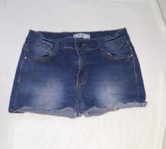 Kratke raztegljive jeans hlače L