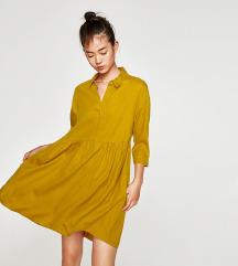 Zara NOVA gorčična obleka