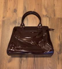 NOVA temno rdeča lakasta torbica ALPINA