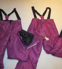 komplet smučarskih hlač (2x - vel.: 134/140)