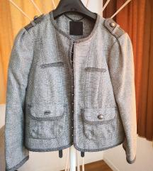 Siva kratka jaknica/blazer