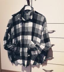 Karirasta oversize srajca