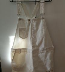 Kratek bel pajac dungaree/overalls