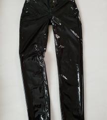 Vinily lateks črne hlače S/M