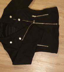 Črna semiš jakna