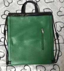 Zelena torba / nahrbtnik MASS NOVA