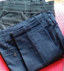 NOVE Zara Basic hlače temno modre - rez
