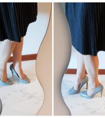 Zara Elegantni Salonarji Sivi pastel Lakasti