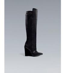 1 +1 GRATIS Zara usnjeni wedge škornji