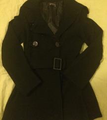 Črn zimski plašč S/M