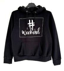 ZNIŽ.Črn weekend hoodie