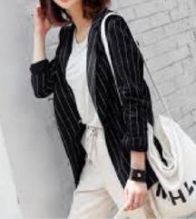Vero moda črtast črn blazer