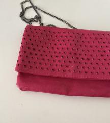 Roza prostorna torbica