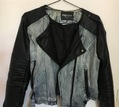 Usnjena jeans jakna