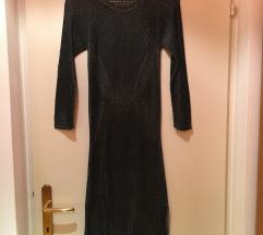 Črno-srebrna obleka
