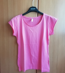 Roza kratka majica