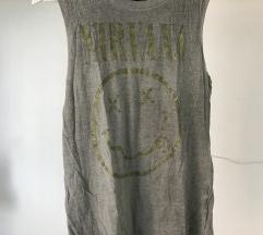 Nirvana majica vojaško zelene barve