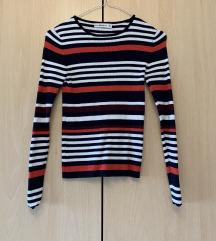 Črtast puloverček zara S