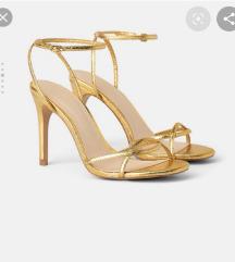 Zara strapy gold sandals