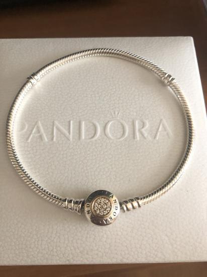 Pandora zapestnica 14k gold