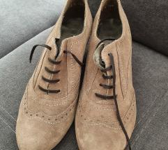 Usnjeni čevlji(pravo usnje-semiš)vel.40