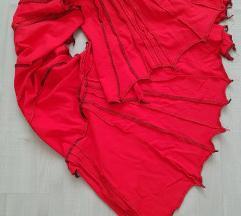 Atelje Dobrovoljc rdeč unikat šal