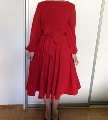 Rdeča elegantna obleka