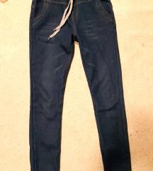 Zimske podložene jeans hlače
