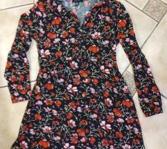 srajčna obleka / pisana tunika / rožasta obleka