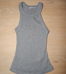 Siva majica brez rokavov Zara