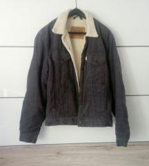 ZNIZANO !! original Levi's siva podlozena jakna