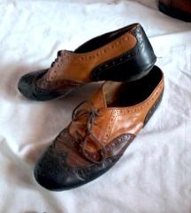 usnjeni oxford tribarvni čevlji,39 1/2