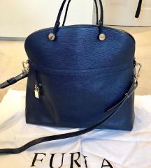 Furla temno modra torbica