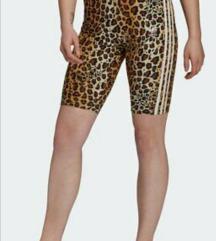 Adidas leopard kolesarke pajkice 38 nove
