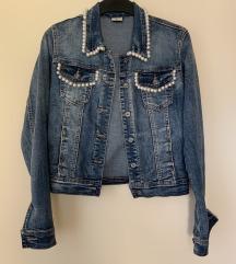 Jeans jakna s perlami
