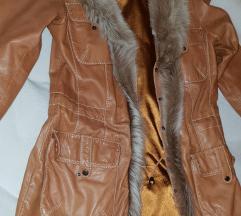 Usnjena jakna+krzno APART,vel.38-40
