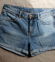 Kratke basic jeans hlače H&M