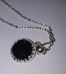 Srebrna verižica+kristali swarovski(pravo srebro)