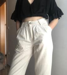 Krem Bershka hlače