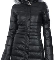 SAFINE ETIREL Zimski črni plašč/jakna