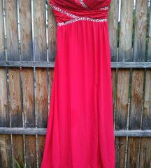 Maxi svečana rdeča obleka