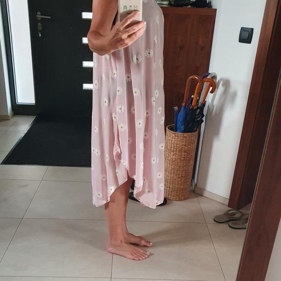 Dolga obleka z marjeticami